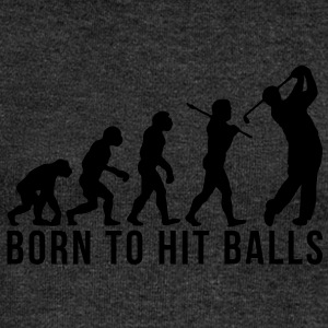 golf evolution born to hit balls - Women's Boat Neck Long Sleeve Top