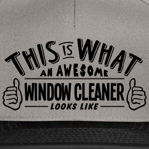 awesome window cleaner looks like pro de - Snapback Cap