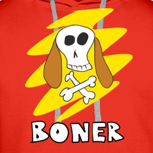 Dog Skull and Bone Jackass Boner T-Shirt - Men's Premium Hoodie