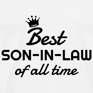 Son-in-law / Son in law / Marriage / Family  Aprons - Men's Premium T-Shirt