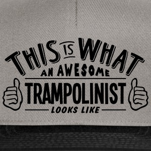 awesome trampolinist looks like pro desi - Snapback Cap