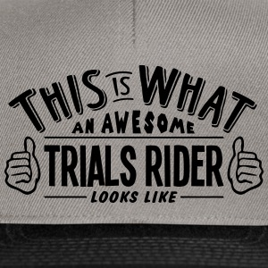 awesome trials rider looks like pro desi - Snapback Cap