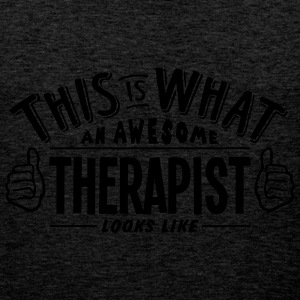 awesome therapist looks like pro design - Men's Premium Tank Top