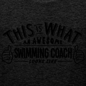 awesome swimming coach looks like pro de - Men's Premium Tank Top