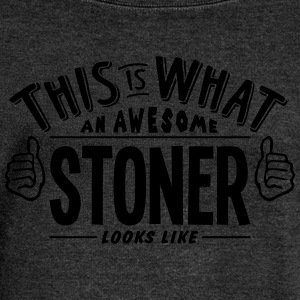 awesome stoner looks like pro design - Women's Boat Neck Long Sleeve Top