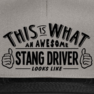 awesome stang driver looks like pro desi - Snapback Cap