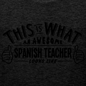 awesome spanish teacher looks like pro d - Men's Premium Tank Top