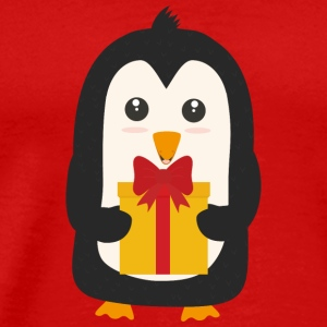 Penguin with Presentbox Long Sleeve Shirts - Men's Premium T-Shirt