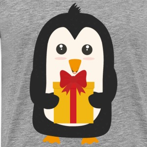 Penguin with Presentbox Other - Men's Premium T-Shirt