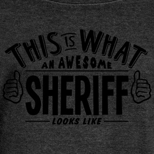 awesome sheriff looks like pro design - Women's Boat Neck Long Sleeve Top