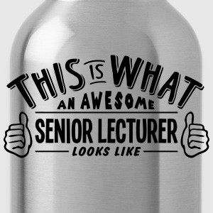 awesome senior lecturer looks like pro d - Water Bottle