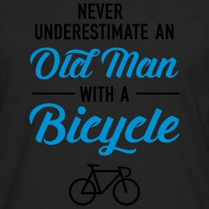 Old Man - Bicycle Camisetas - Camiseta de manga larga premium hombre