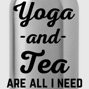 Yoga And Tea Funny Quote  Camisetas - Cantimplora