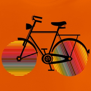 Bicycle with rainbow wheels Shirts - Baby T-Shirt