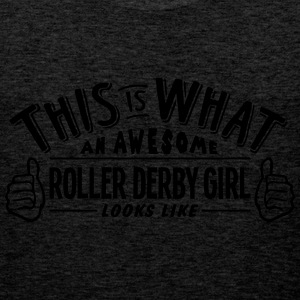 awesome roller derby girl looks like pro - Men's Premium Tank Top