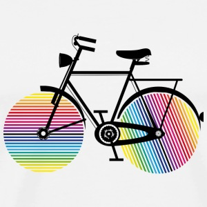 Bicycle with rainbow wheels Buttons - Men's Premium T-Shirt