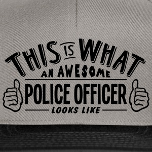 awesome police officer looks like pro de - Snapback Cap