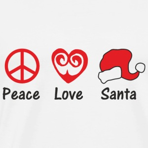 PEACE LOVE SANTA Tops - Männer Premium T-Shirt