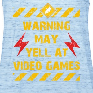 Warning Video Games T-Shirts - Frauen Tank Top von Bella