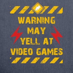 Warning Video Games T-Shirts - Schultertasche aus Recycling-Material