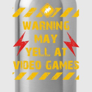 Warning Video Games T-Shirts - Trinkflasche