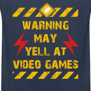 Warning Video Games T-Shirts - Männer Premium Tank Top