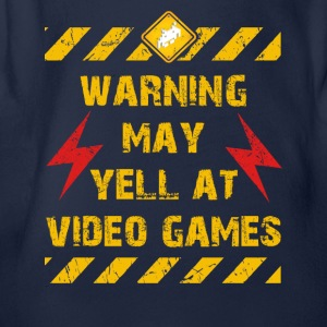 Warning Video Games Langarmshirts - Baby Bio-Kurzarm-Body