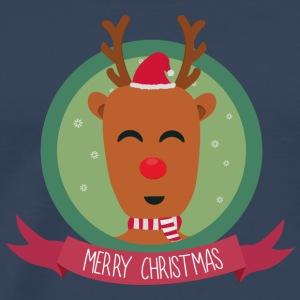 Christmas Reindeer with snow flakes Long sleeve shirts - Men's Premium T-Shirt