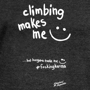 Climbing makes me happy ! Tee shirts - Pull Femme col bateau de Bella