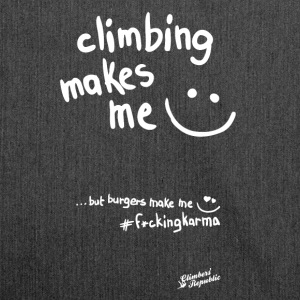 Climbing makes me happy ! Tee shirts - Sac bandoulière 100 % recyclé
