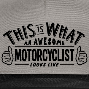 awesome motorcyclist looks like pro desi - Snapback Cap