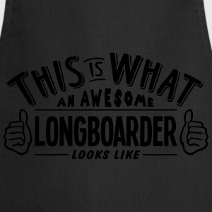awesome longboarder looks like pro desig - Cooking Apron