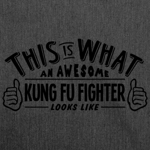 awesome kung fu fighter looks like pro d - Shoulder Bag made from recycled material
