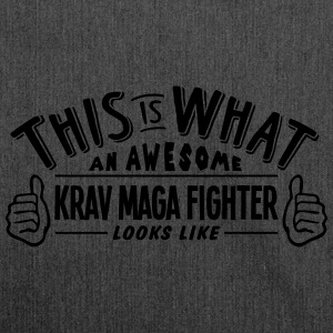 awesome krav maga fighter looks like pro - Shoulder Bag made from recycled material