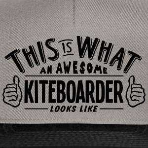 awesome kiteboarder looks like pro desig - Snapback Cap