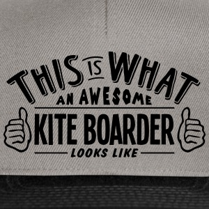 awesome kite boarder looks like pro desi - Snapback Cap