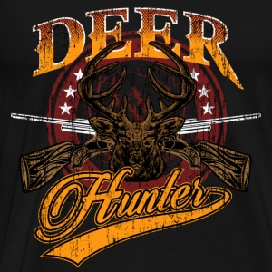 JD - Jäger Shirts - international deer hunter - retro used vintage look - top design - RAHMENLOS Ge Pullover & Hoodies - Männer Premium T-Shirt