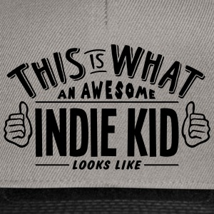 awesome indie kid looks like pro design - Snapback Cap