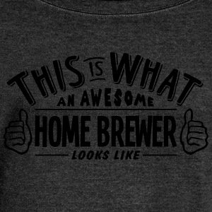 awesome home brewer looks like pro desig - Women's Boat Neck Long Sleeve Top