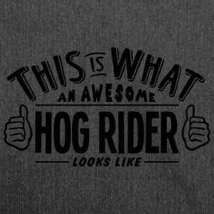awesome hog rider looks like pro design - Shoulder Bag made from recycled material