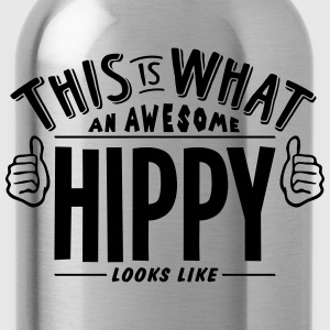 awesome hippy looks like pro design - Water Bottle