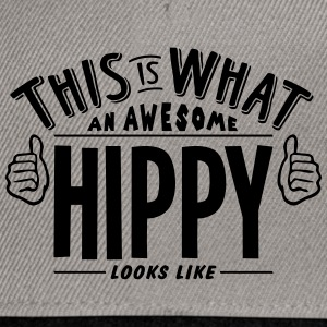 awesome hippy looks like pro design - Snapback Cap