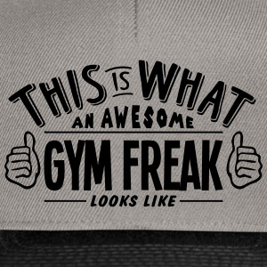 awesome gym freak looks like pro design - Snapback Cap