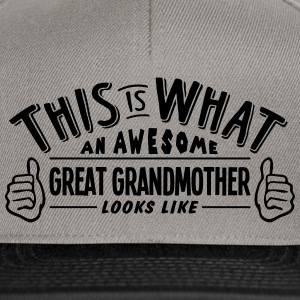 awesome great grandmother looks like pro - Snapback Cap