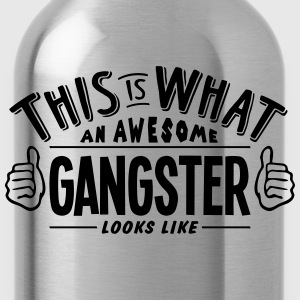 awesome gangster looks like pro design - Water Bottle