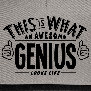 awesome genius looks like pro design - Snapback Cap