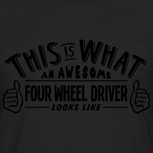 awesome four wheel driver looks like pro - Men's Premium Longsleeve Shirt