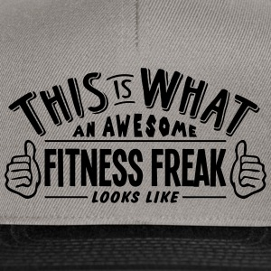 awesome fitness freak looks like pro des - Snapback Cap