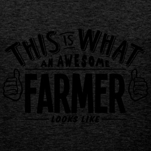 awesome farmer looks like pro design - Men's Premium Tank Top