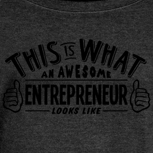 awesome entrepreneur looks like pro desi - Women's Boat Neck Long Sleeve Top